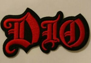 """DIO~Metal Rock~Ronnie James DIO~Embroidered Patch~Iron or Sew~4 1/8"""" x 2"""""""