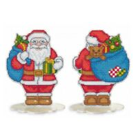 New Counted Cross Stitch Embroidery Kit Santa Claus by Oven