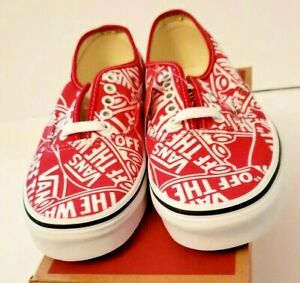 New VANS OTW Repeat Red White Canvas Lace up Sneakers sz 6
