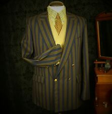 Mens Vintage Striped  Boating John G Hardy Blazer Jacket Size 42 Large Long