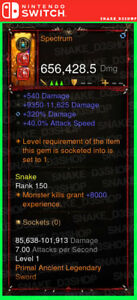 Diablo 3 Nintendo Switch - PRIMAL Modded Weapon - Spectrum - Rainbow Sword