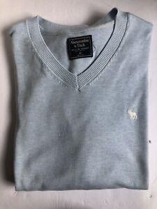 Abercrombie & Fitch Light Blue V Neck Sweater -Mens XL
