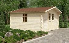 44mm Gartenhaus 400x400 cm Gerätehaus Holzhaus Holz Blockhaus Schuppen Hütte Neu