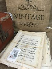 Vintage Music Sheet Old Song Sheets Music Paper and Hymn Book Pages - Gift Pack