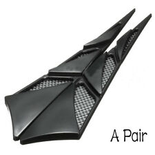 Hood Side Air Intake Flow Vent Cover Decorative Stick Black 2x Universal ABS Car