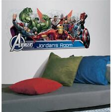 THE AVENGERS. GIANT PERSONALIZED WALL STICKER APPLIQUE. OFFICIAL ITEM 39 INCHES