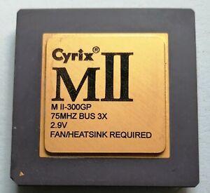 CYRIX M II  VINTAGE CPU  SPECIAL EDITION M2 300 3x 75 MHz Gold Köpfchen 1998 06