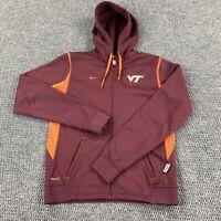 Nike Women's Virginia Tech VT Hokies Full Zip Up Hoodie Jacket Size Small Therma