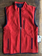 New! Johnnie-O Full-Zip Heathered Fleece Coastal Vest Size 10 Scarlet Red