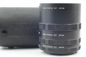 [N MINT in Case] Pentax 6x7 Macro Auto Extension Tube Ring 1 2 3 Set From JAPAN
