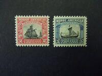 """#620 & 621 2c Sloop & 5c Viking Ship MNH OG VF CV $31 #1 """"Includes New Mounts"""""""