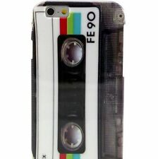 For iPhone 6 / 6S - HARD TPU RUBBER GUMMY SKIN CASE COVER VINTAGE CASSETTE TAPE