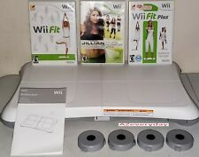 Wii Fit Balance Board 3 game LOT/bundle Plus riser/ft WORKOUT_Exercise_Fitness