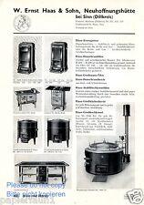 Ofen Haas Neuhoffnungshütte bei Sinn Reklame von 1935 Herd Hase Dauerbrandofen