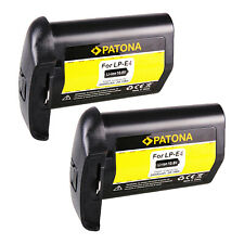 2x Batteria Patona 11,1V 2600mAh per Canon EOS-1D X,EOS-1D C,EOS 1D X Mark II