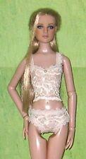 Rdy2Wear Sheer Ivory Lace Cami & Bikini Lingerie Set Fits Antoinette Cami & Jon