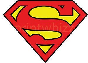 3 x Superman Logo Crest Vinyl Sticker 80x60mm Car Laptop Superhero Comic Book