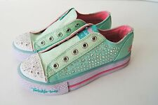 New Skechers Twinkle Toes Light Up Sneaker Girl's Size 13
