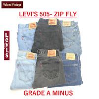 VINTAGE LEVIS LEVI 505 MENS GRADE A MINUS JEANS ZIP FLY W30 W32 W34 W36 W38