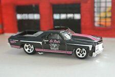 Hot Wheels '71 Chevy El Camino - Black & Pink - Loose - 1:64