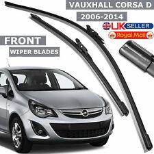 """Vauxhall Corsa D 2006-14 Front Windscreen Flat Aero Wiper Blades Kit 26"""" & 16"""""""