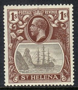 ST HELENA 1922-37 SG106 1/- GREY & BROWN VLMM