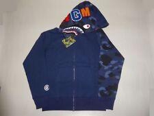 13870 bape color camo shark sleeve hoody blue M