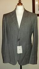 HARDY ARMIES Heddon Fit Suit Blazer Check Grey Size uk 42R eu 52R
