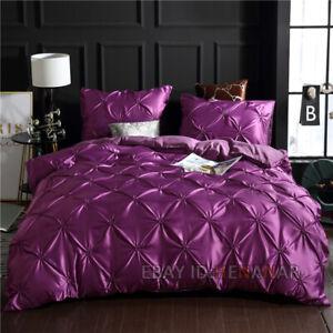 Satin Silk Bedding Set Quilt Duvet Cover Pillowcase Luxury Oversized Blanket
