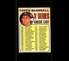 1968 Topps 192A Checklist 3 Carl Yastrzemski To increase the. .  EX-MT #D435688