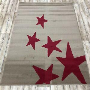 red taupe  Print Rug 120cm x 170cm Pattern Design Matt Area Rug (649)