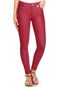 Women's Cotton Blend Full Length Jeggings Stretchy Skinny Pants Jeans Leggings