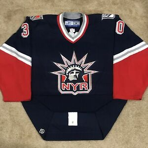 Reebok Authentic Henrik Lundqvist New York Rangers Lady Liberty NHL Jersey 52