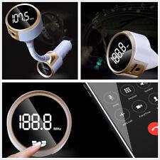 Mini Wireless Bluetooth Kit Car SUV MP3 Hands-free Dual USB Radio FM Transmitter