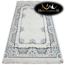 """SOFT ACRYLIC RUGS """"MIRADA"""" blue cream Thick And Densely Woven QUALITY"""
