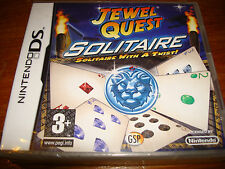 JEWEL QUEST SOLITAIRE  ** NEW & SEALED **  Nintendo Ds Game