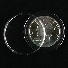 10 Airtite Coin Capsule Holders Black Rings for 1oz Silver or Copper Rounds 39mm