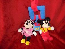 Doudou Hochet A Suspendre Mickey Minnie Balle 123 ABC TTBE
