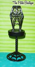 ✿ MONSTER HIGH DOLL DIE-NER PLAYSET REPLACEMENT BLACK BAR CHAIR ONLY FURNITURE ✿