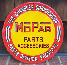 "Mopar Garage Reproduction Metal Sign 12""-Chrysler Corporation-Parts Division"