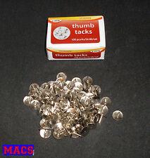 Reißzwecken Reißnägel Heftzwecken Reissberttstifte Silber 100 Stück Pinnwand Neu