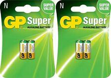 4 x GP® 910A LR1 N 1.5V Super Alkaline Battery MN21, A23, LRV08 Expiry 2022