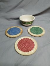 Lot of 5 Longaberger Pieces - Coasters, Bowl, Mug - See Listing