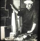 Ben Nicholson In His Studio 1960.  British Abstract Art 35mm Slide