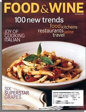 Food & Wine - 2000, January - 100 New Trends, Joy of Italian Cooking