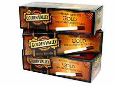 3 Golden Valley Gold Edition King Size Cigarette Tubes (box) 200 ea Filter Tubes