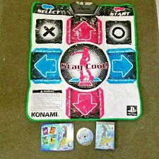 Konami Wired Playstation 2 PS2 PS1  DDR Dance Pad Mat game stay cool W/ GAME