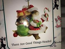 "Charming Tails ""There Are Good Things Headed Your"" Dean Griff Christmas Ornament"