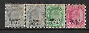 1903-05 NABHA, SG28-31. 4 VALUES MINT, KEDVII, INDIA,INDIAN STATES