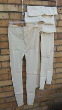VINTAGE MEN'S LONG UNDERWEAR ~ 1900s STORE INVENTORY ~ FOUR GARMENTS ~ BUTTONS
